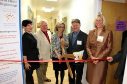 Ribbon-cutting at the Grand Opening of the Richmond Rotacare Clinic