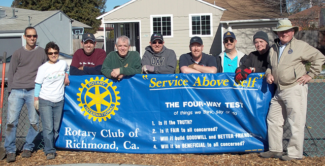 Richmond Rotarians helping plant trees at the Solano Play Lot
